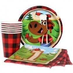 Lumberjack 1st Birthday Munch Pack for 8
