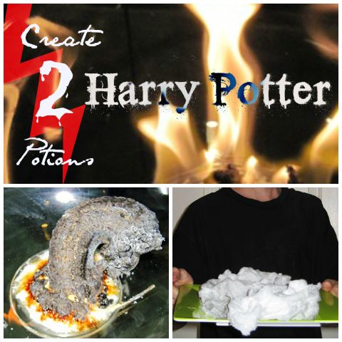 Harry Potter potions: bring the fictional world of Hogwarts to your kitchen and wow your kids with something that bubbles and burns with bright flames.