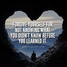 Forgiving ourselves for our life and narcissistic abuse... When we haven't forgiven ourselves, we are not fully accepting our broken and unhealed parts... Non-forgiveness is resistance, it is not acceptance, and it keeps creating our separation from self, and then re-enactments in our life of all that we haven't forgiven ourselves for...