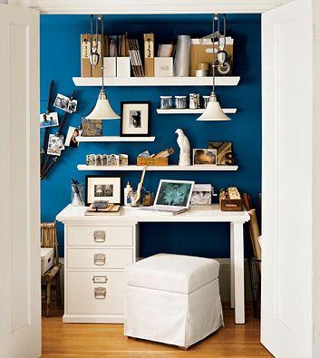 White v intense blue..