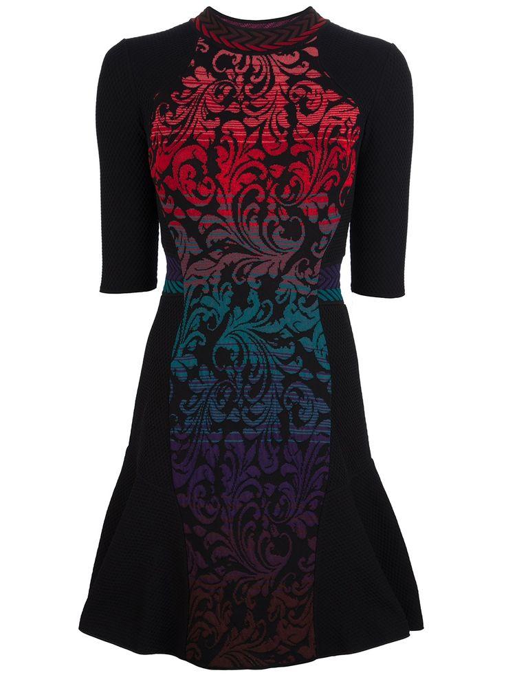 M Missoni Knit Jacquard Print Dress in Black
