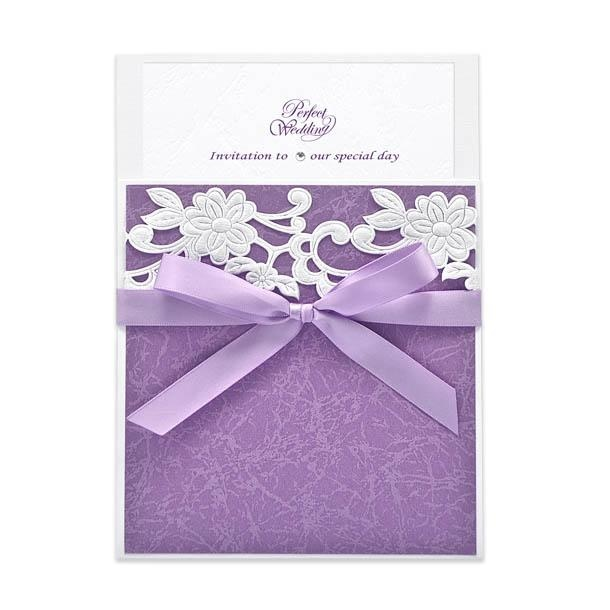 Violet invitation - Handmade Wedding Invitations & Unique Stationery Online