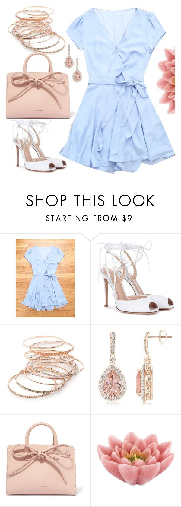"""""""Wedding Guest Dress"""" by deloom on Polyvore featuring Gianvito Rossi, Red Camel, Mansur Gavriel and Pink Lotus"""