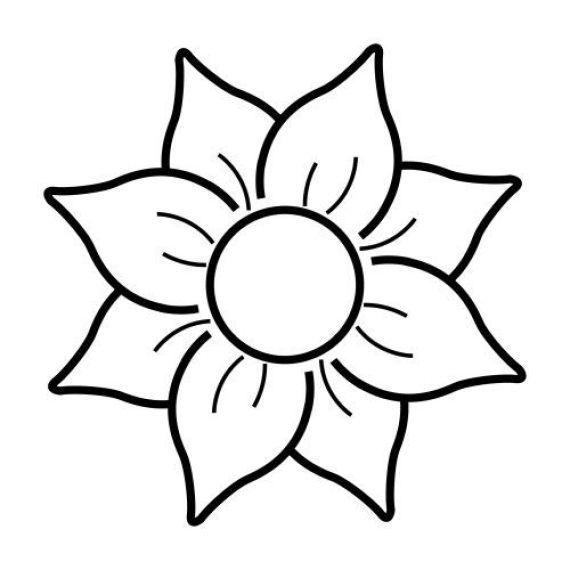 Dibujos Bonitos Y Faciles Para Pintar Dibujos De Flores Flores