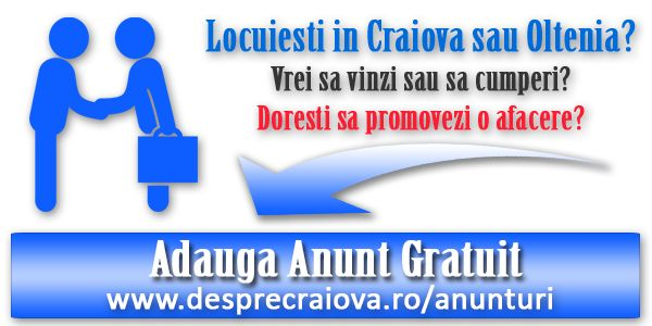 Locuiesti in Craiova, sau in zona Olteniei, ai ceva de oferit spre vânzare, sau doresti sa promovezi o afacere, afla ca ai ajuns în locul potrivit!