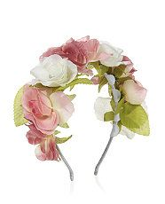 Pink (Pink) Pink and White Rose Garland Alice Band | 310676570 | New Look