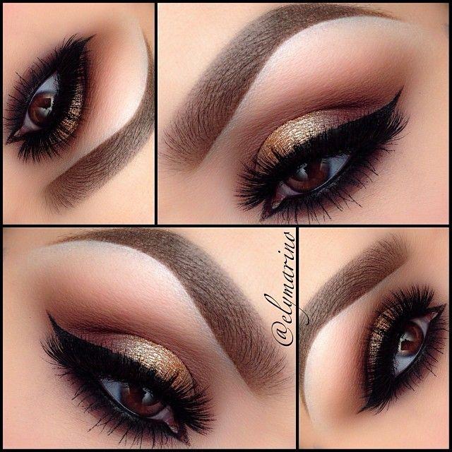 elymarino- brown thursday. #thanksgiving #mua #makeup #eye #brown