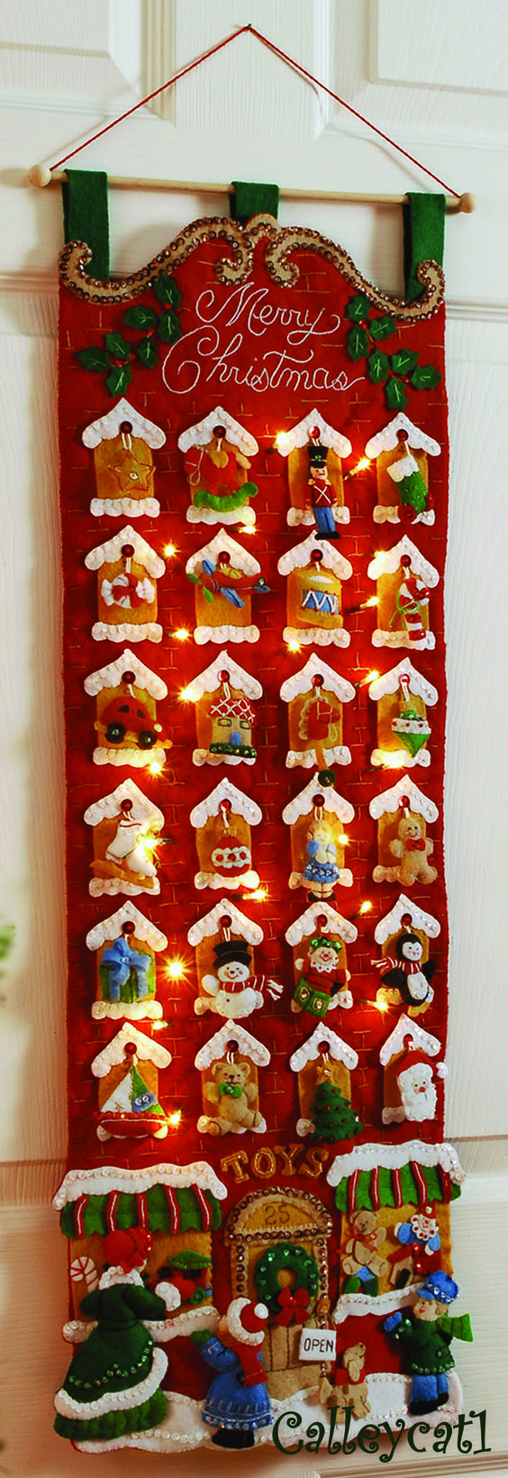 Advent calender, it lights up. Love that