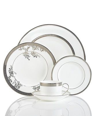 Vera Wang Wedgwood Dinnerware, Lace Collection - Fine China - Dining & Entertaining - Macy's $149