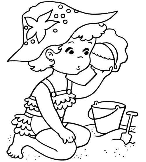 Summer Beach Coloring Pages   preschool class   Pinterest