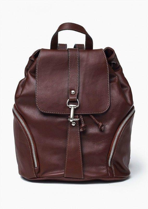 Vera Pelle Skórzany włoski Plecak Bordowy Oryginalna torba damska (plecak) włoskiej produkcji (Vera Pelle/Vezze) wykonana ze skóry naturalnej najwyższej jakości. Skóra miękka, miła w dotyku. Plecak charakteryzuje się prostą budową. Wewnątrz znajduje się o