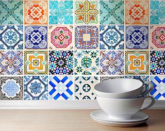 Talavera Tile Stickers Mexican Tile Stickers by homeartstickers