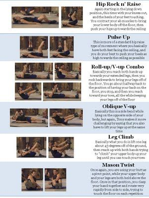 List of the moves from Ab Ripper X - Just in case I can't find the DVD! - Part 2