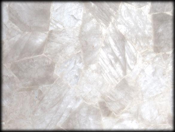 Jaccana | Crystal Quartz Backlit Slab | Semiprecious Stone Tile & Slab