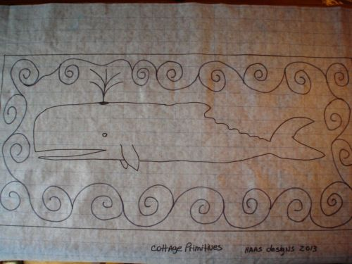 Best Details About Primitive Whale Stair Tread Rug Hooking 400 x 300