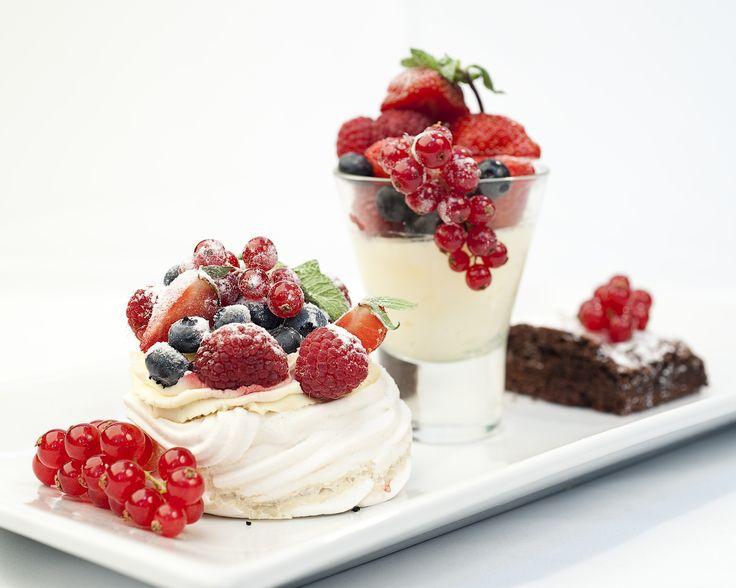 Summer berry trio of desserts ©Michael Cockerham