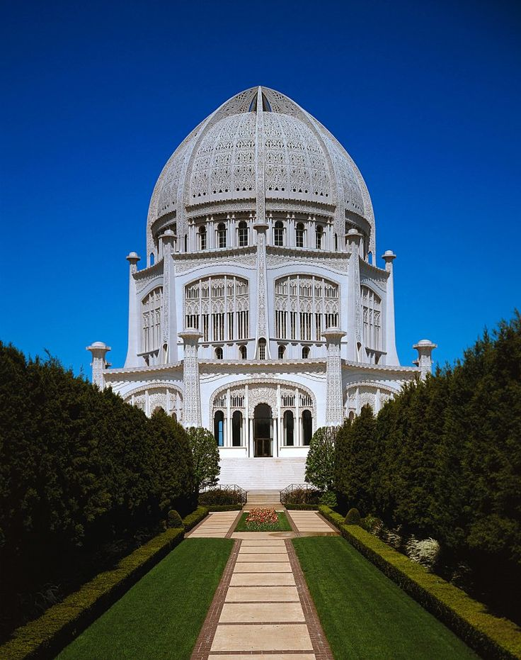 The Bahá'í House of Worship in Wilmette, Illinois, United States