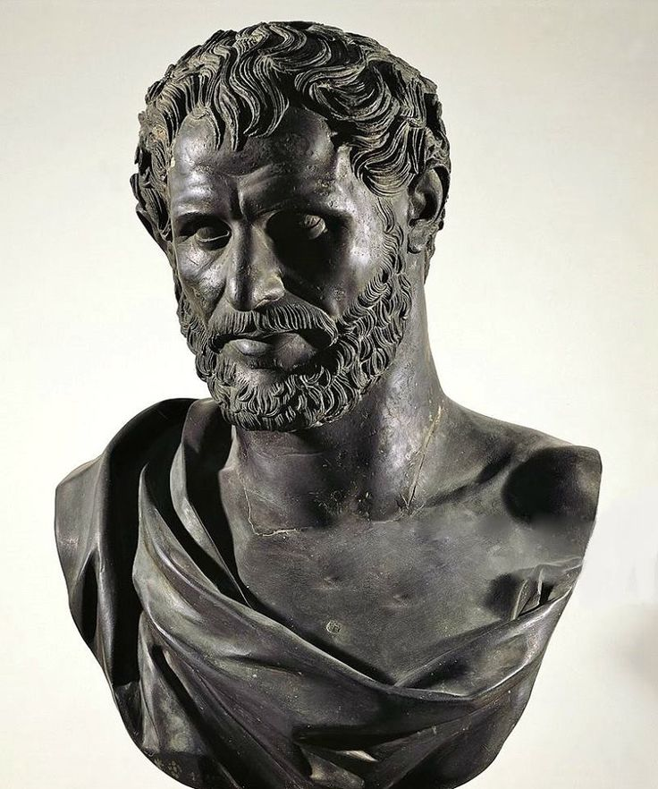 Bust of Seleucus I Nicator (Europos ca 358 BC-Lisimacheia 281 BC), Macedonian general after Alexander the Great and founder of the Seleucid dynasty. bronze from the Villa of the Papyri at Herculaneum, Campania, Italy, 1st century BC.