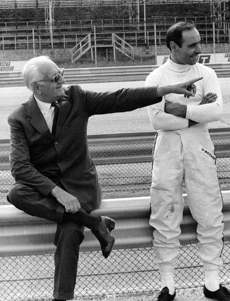 Enzo Ferrari & Ernesto 'Tino' Brambilla in Monza. Brambilla entered in 2 Formula One Grand Prix races, firstly in the 1963 Italian Grand Prix with Scuderia Centro Sud, driving a Cooper, which he failed to qualify. For the 1969 race he was entered by Ferrari, but the car was ultimately driven by Pedro Rodríguez.
