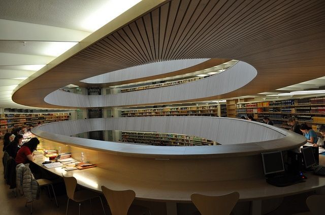 Library of University of Zurich, Faculty of Law, Switzerland by Santiago Calatrava Architect. - Google Search