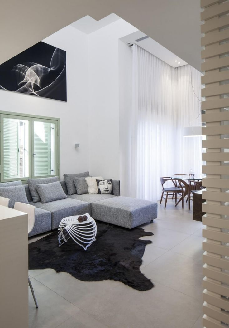 Futuristisches Interieur Loft Wohnung | Möbelideen