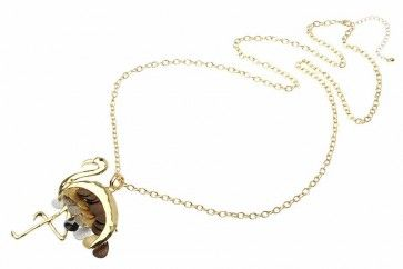 Gold Metal Chain Mixed Metal Colour Flamingo Pendant   Don't Forget your discount code FB10 to get 10% off your 1st order