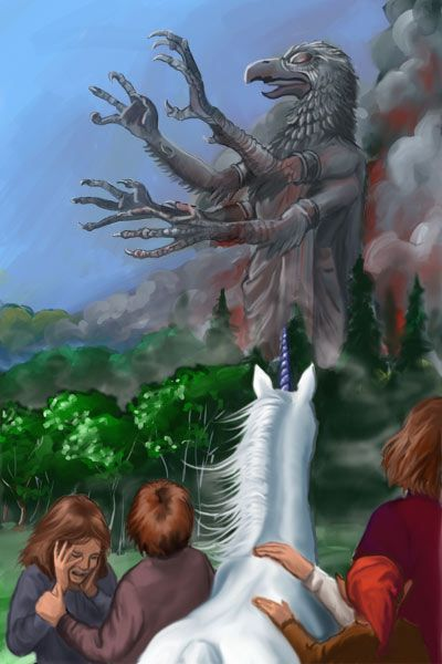 Jill, Eustace, Jewel, Poggin, and Tirian by Dawn Doughty Davidson | Narnia ~ The Last Battle