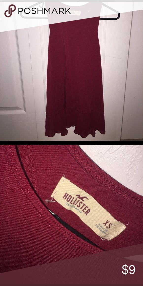 Hollister red tank top worn a couple times, no flaws & in perfect condition. super cute for summer and willing to negotiate prices:) Hollister Tops Tank Tops