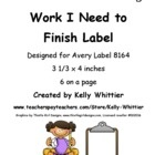 $ I found my students needed a folder to keep their unfinished work, so I created this label for that folder.  It uses Thistle Girl graphics.There ...Thistles Girls, Schools Labels, Girls Graphics Ther, Girls Generation, Avery 8164, Finish Avery, Unfinished Work
