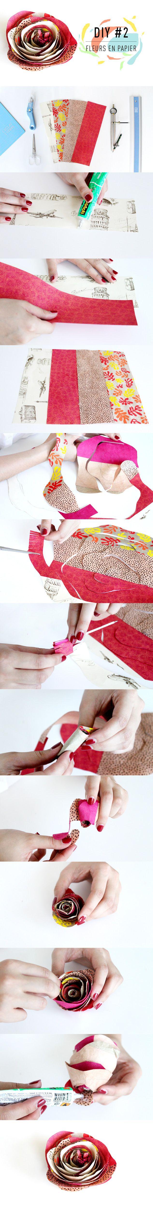 L'Éclat de Verre Encadreur - Créateur vous propose une série de DIY pour apprendre à réaliser des fleurs en papier ! Avec le DIY#2 réalisez une rose ! Rendez-vous sur le blog pour plus d'explications http://www.eclatdeverre.com/diy-2-fleur-papier-rose/ #eclatdeverre #papier #diy #tuto #rose