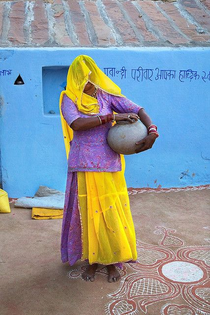 Mother of a pupil, Rajasthan 2 by Michael Foley Photography on Flickr.