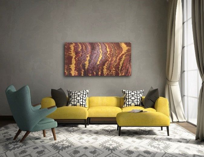 Brown Abstract Painting On Canvas Acrylic Painting Handmade Art Art Clip Hanged On Wall Best Gift For New House Custom Paintings Order In 2020 Handmade Art Abstract Canvas