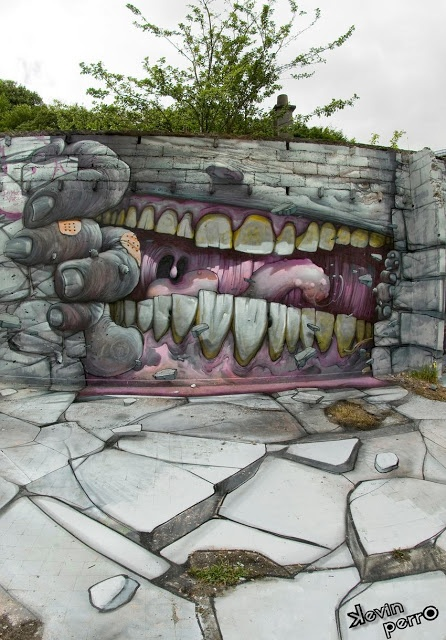 Bom.K x Pakone x Wen2 New Mural In Brest, France