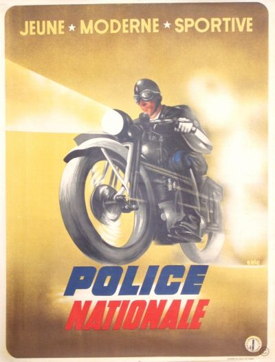 Police Nationale original poster, pin by Paolo Marzioli