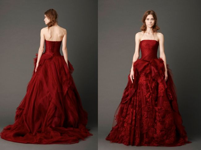 : Vera Wang, Verawang, Wedding Dressses, Bridal Collection, Weddings, Gowns, Red Wedding Dresses, Spring 2013, Stunning Dresses