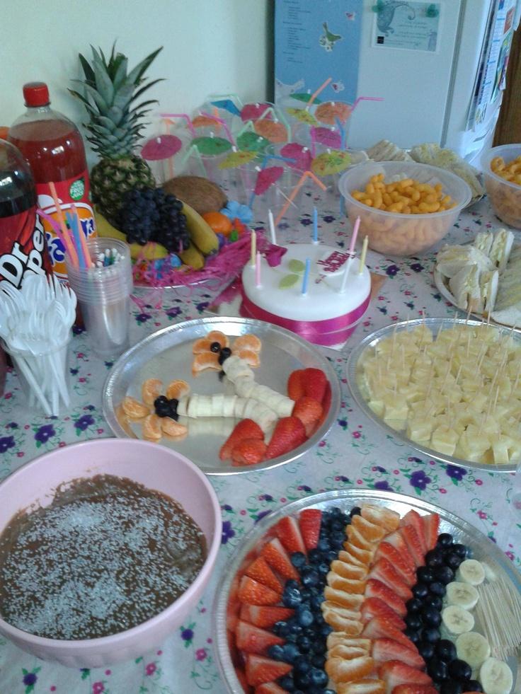 Hawaiian themed party - food