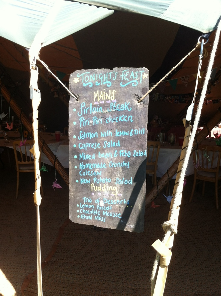 The menu x