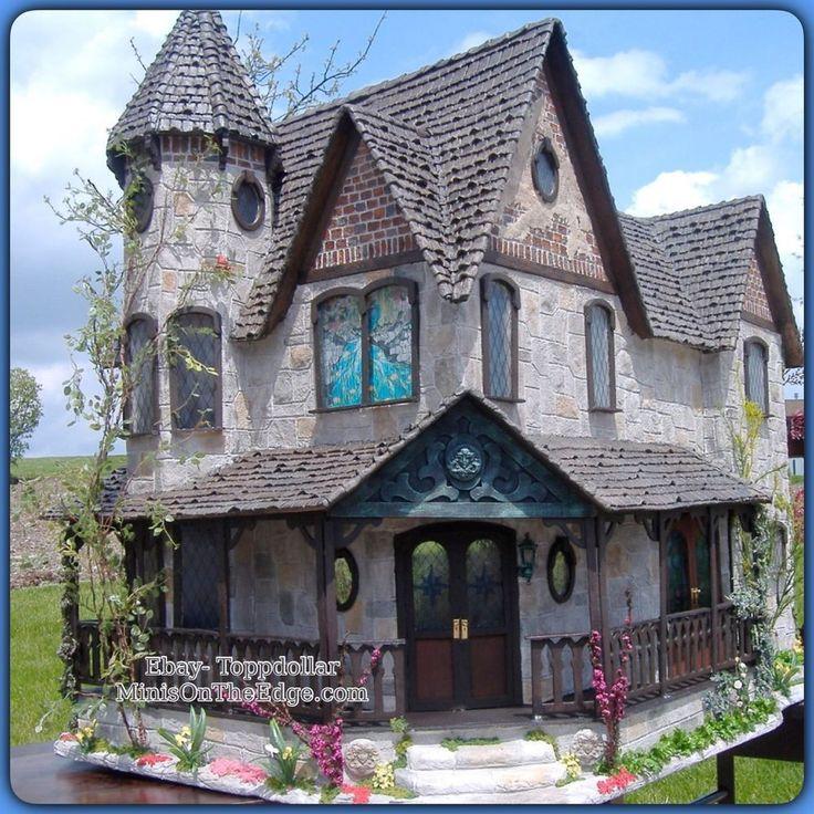 Beautiful victorian pierce greenleaf dollhouse kit for Victorian kit homes