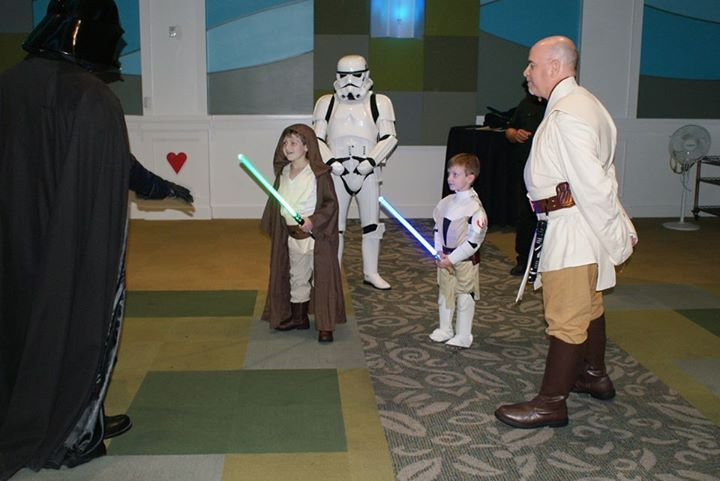 Thanks to visits from The 501st Legion The Florida Garrison and the brave Younglings who stay here, the Force is strong at Give Kids The World Village. Wishing a very Happy Star Wars day to all of our galactic heroes and supporters. May the Fourth be with all of you! #StarWarsDay #GKTWVillage #BabyandMother #BabyClothing #BabyCare #BabyAccessories