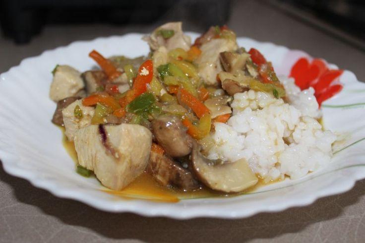 Pui cu legume si curry - Bucataria lui tati