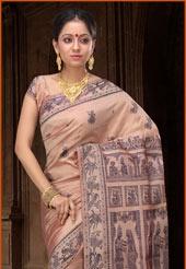 Balucheri style silk -- the pallu tells a story :-)