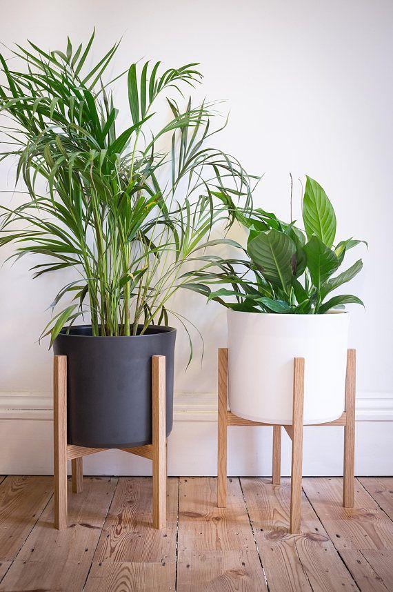 INN02 Moderne Mid-Century Blumenbank / Massivpflanzgefäß #WoodWorking