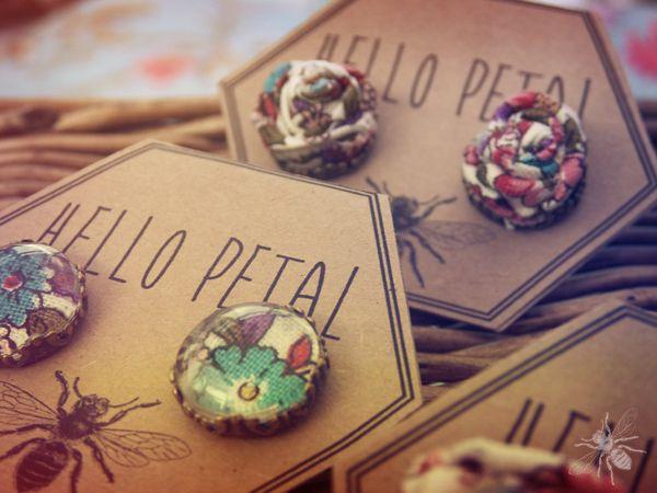 Hello Petal Jewellery by Rowena Bartlett, via Behance