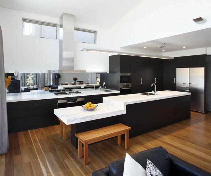 modern modern oak kitchen design. Amazing Black Scheme Modern Kitchen Design White Island Surface And  Sofa Seat On Wooden Flooring 137 best kitchens images on Pinterest Furniture Woodwork and