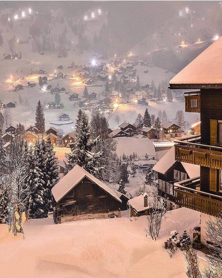 Winter scene in Switzerland