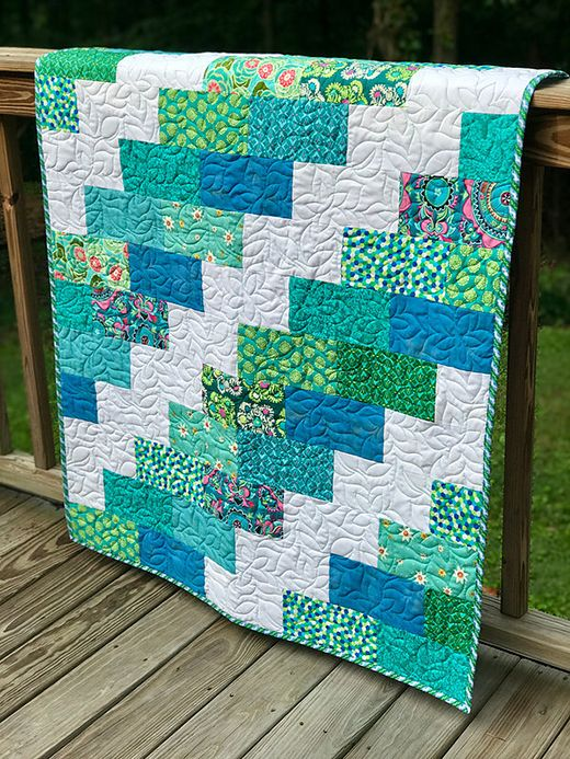 Easy Brick Quilt Quilting Land Quilting Favorites Easy