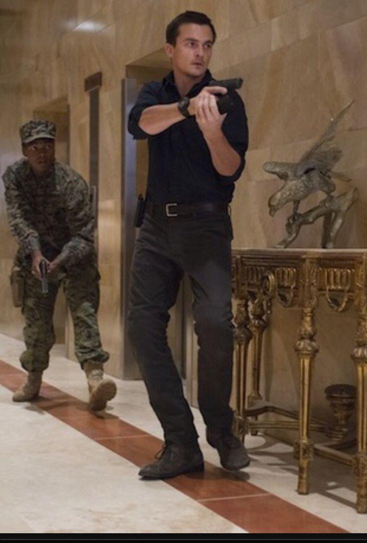 Rupert Friend as CIA hitman Peter Quinn in Homeland