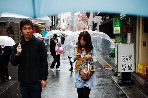 The transparent umbrella. Never a rainy day without one in hand after living in Tokyo.
