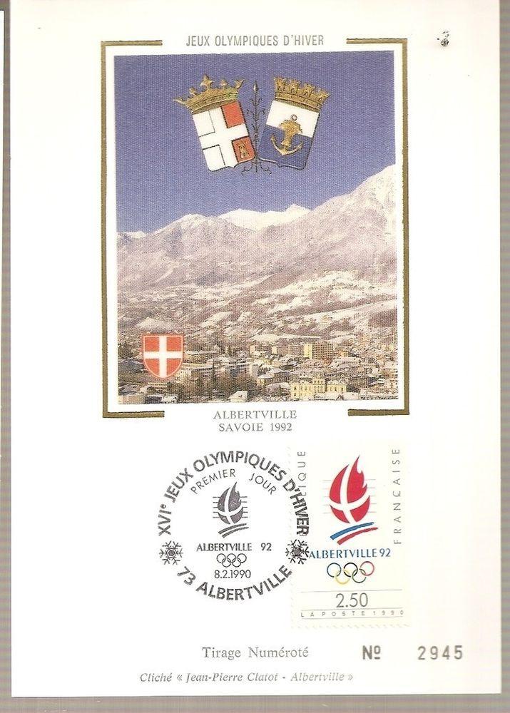 1er jour FDC  sur CP france de 1990  les jo savoie 1992