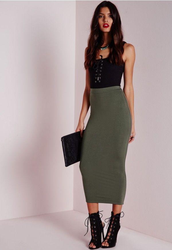 Best 25  Long khaki skirt ideas on Pinterest | Tea length skirt ...
